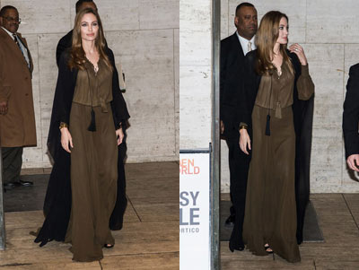 Angelina Jolie Dons Saint Laurent for the 4th Annual Women in the World Summit