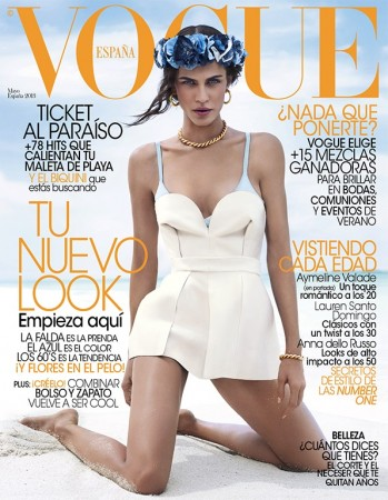 Aymeline Valade Graces Vogue Spain May 2013 Cover