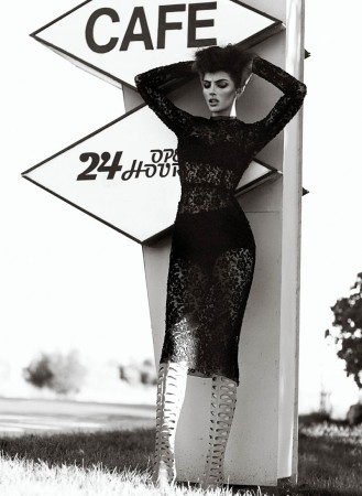 Catrina Stella Sports Seductive Styles for Chris Nicholls in Flare May 2013
