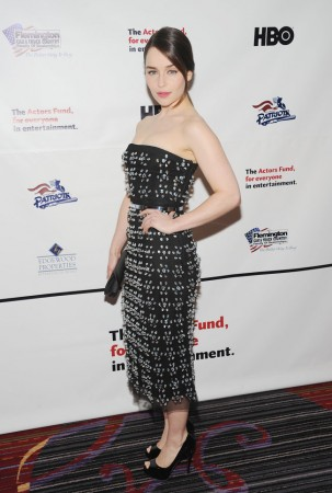 Emilia Clarke Dazzles in Dior at the 2013 Actors Fund's Annual Gala in NYC