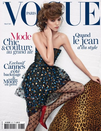 Freja Beha Erichsen Covers Vogue Paris May 2013 in Dior Haute Couture