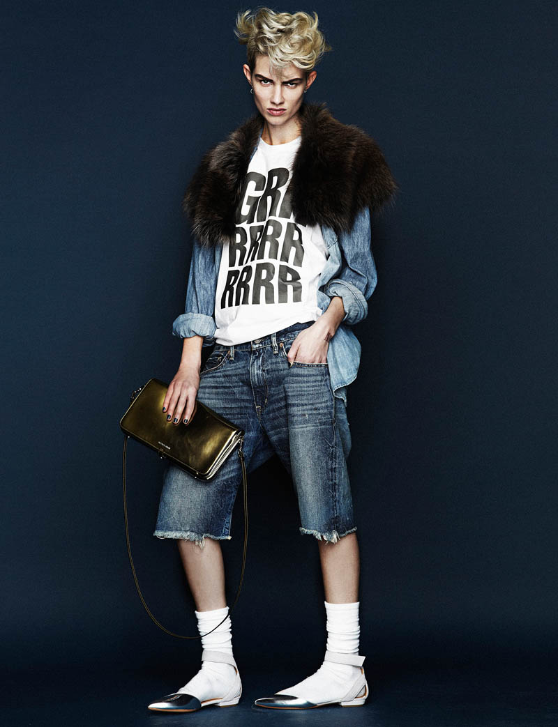 Harmony Boucher Gets Denim Clad for Hunger Magazine S/S 2013 by Toby Knott