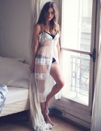 Sophie Vlaming Poses in Paris For Free People's Intimates Journal by David Bellemere