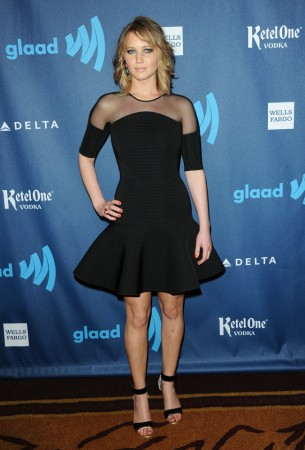 Jennifer Lawrence Steps Out in David Koma at the 24th Annual GLAAD Media Awards