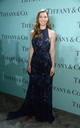 Jessica Biel Dons Elie Saab Florals at the Tiffany & Co. Blue Book Ball