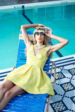 Jessica Hart Poses Poolside for Eric Guillemain in Foam's June 2013 Cover Shoot