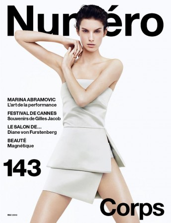 Marte Mei Van Haaster Covers Numéro #143 in Prada