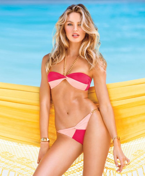 Candice Swanepoel, Alessandra Ambrosio, Maryna Linchuk and Erin Heatherton Grace Victoria's Secret Summer of Sexy Catalogue