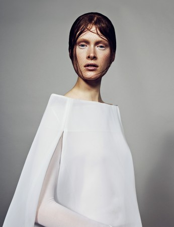 Ilva Heitmann Dons All White for SOMA Magazine by Felix Wong