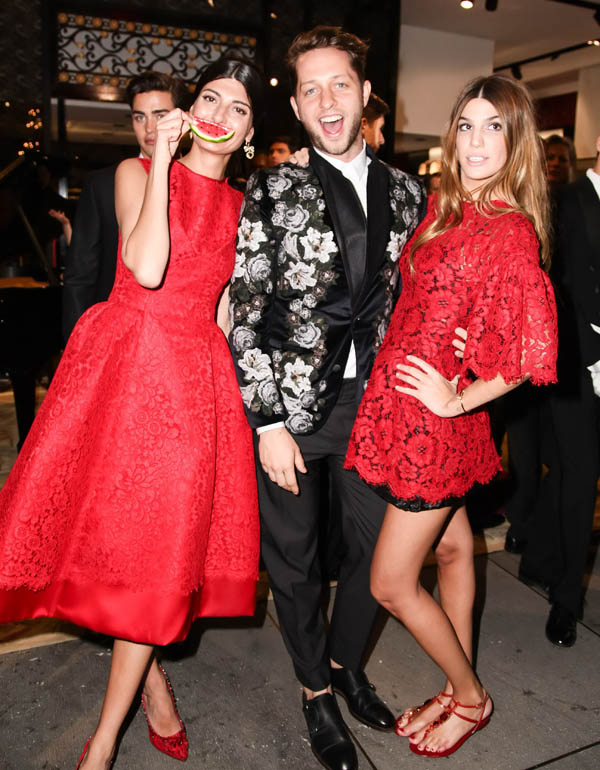 DOLCE & GABANNA, along with GIOVANNA BATAGLIA, Celebrate the Opening of the 5th Avenue Flagship Boutique