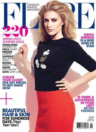 Greta Gerwig is Pretty in Marc Jacobs for Flare's June 2013 Cover