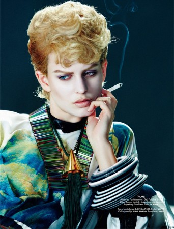 Ellinore Erichsen Channels David Bowie for Takahiro Ogawa in Elle Mexico May 2013