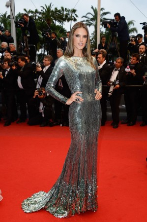 "Alessandra Ambrosio Stuns in Roberto Cavalli at the ""All is Lost"" Cannes Premiere"