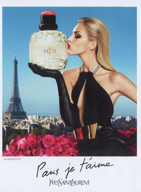 """Anja Rubik Stars in YSL's """"Paris je t'aime"""" and """"Parisienne"""" Fragrance Campaigns"""
