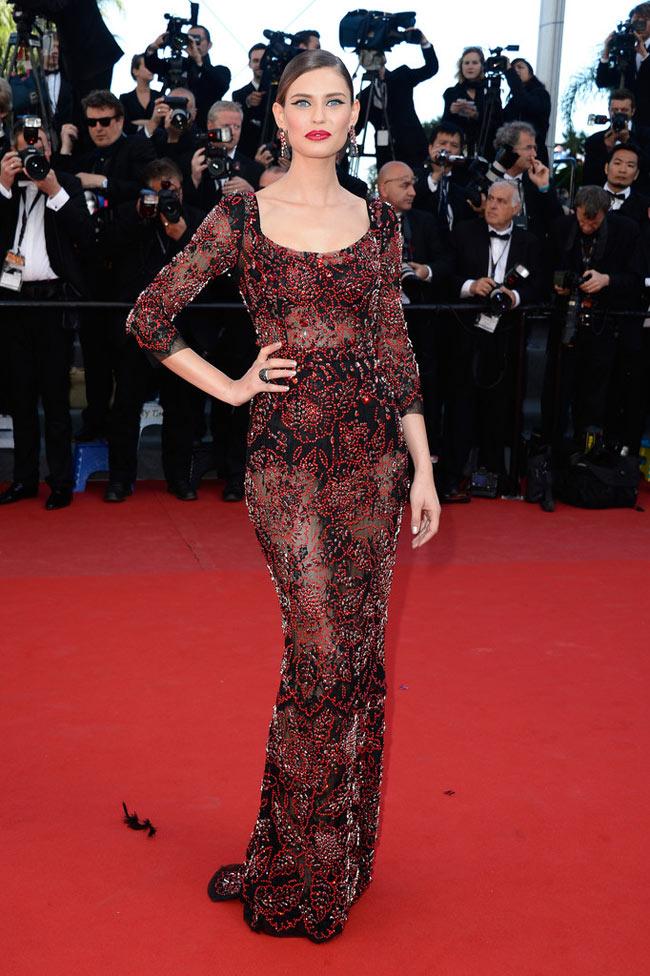 "Bianca Balti Shines in Dolce & Gabbana at the ""Venus in Fur"" Cannes Premiere"