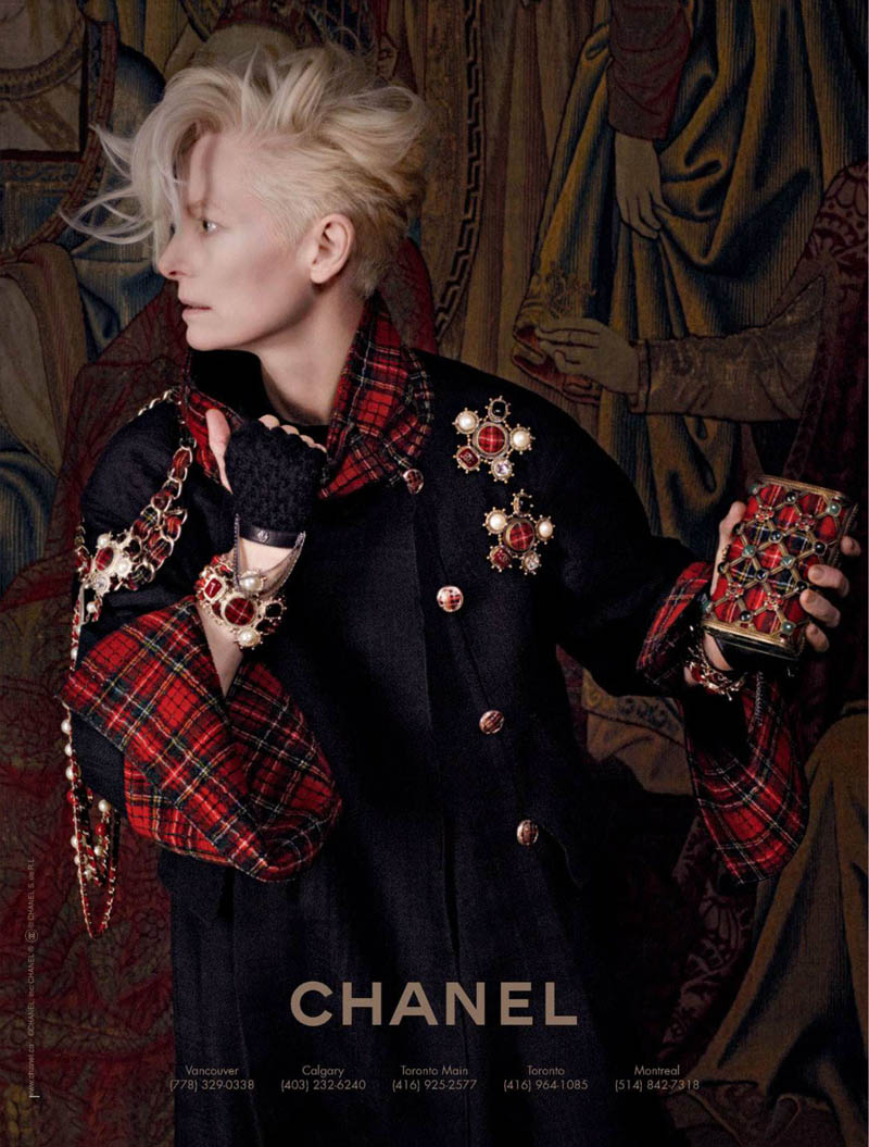 Tilda Swinton Embraces Scottish Heritage for Chanel Paris-Edimbourg Campaign by Karl Lagerfeld