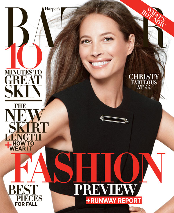 Christy Turlington stars on Harper's Bazaar June/July 2013 cover