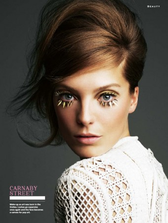 Daria Werbowy Goes Retro for Stylist Magazine's April 2013 Edition