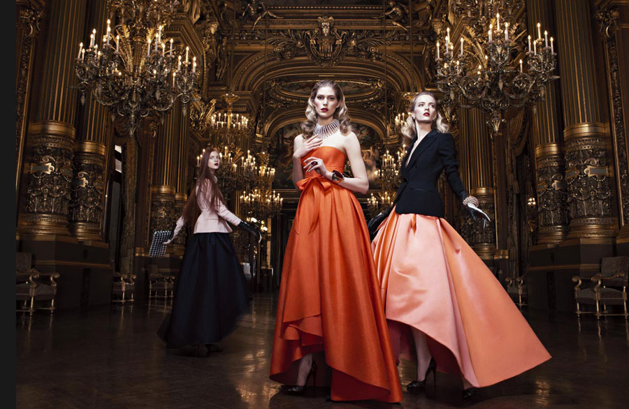 "Daria Strokous and Iselin Steiro Star in Dior Fall 2013 ""Opera"" Campaign by Willy Vandeperre"