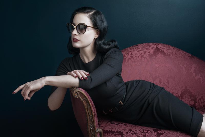 "Dita Von Teese Stars in DITA Eyewear's Fall 2013 ""Legends"" Campaign"