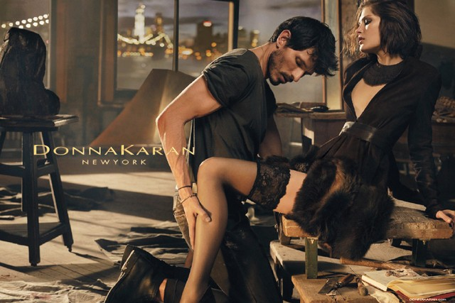 Catherine McNeil Seduces for Donna Karan Fall 2013 Campaign