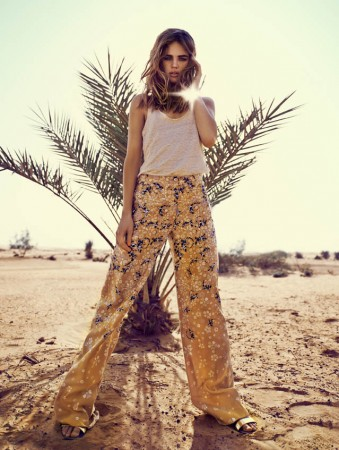 Milou Sluis is a Desert Princess for Eurowoman June 2013 by Jonas Bie