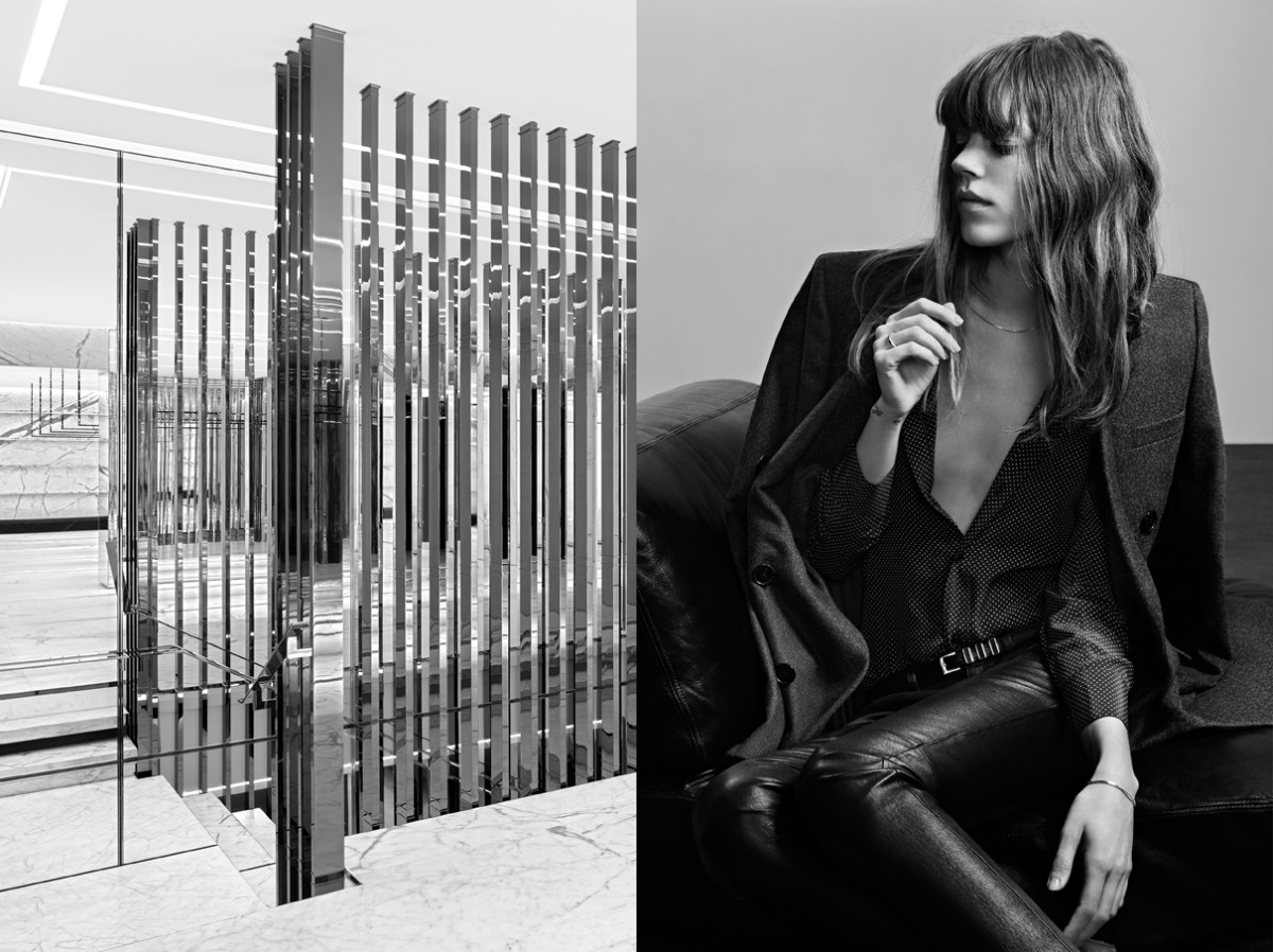Freja Beha Erichsen Stars in Saint Laurent Pre-Fall 2013 Campaign by Hedi Slimane