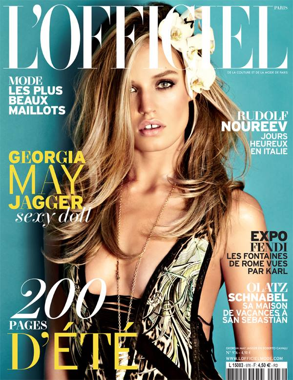 Georgia May Jagger Graces L'Officiel Paris' June/July 2013 Cover