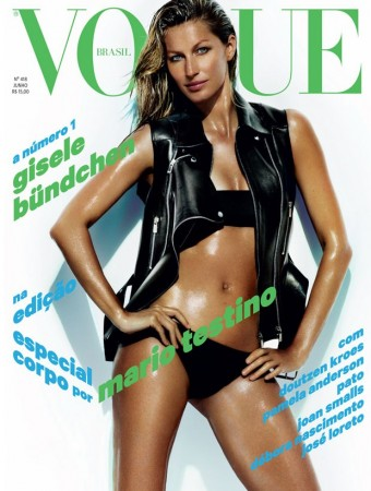 Gisele Bundchen Shows Off Swimsuit Body on Vogue Brazil June 2013 Cover