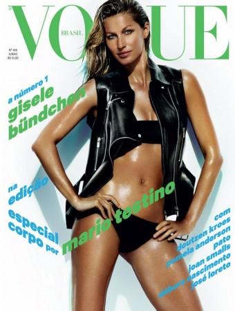 Gisele Bundchen Shows Off Swimsuit Body on Vogue Brazil June 2013 Cover