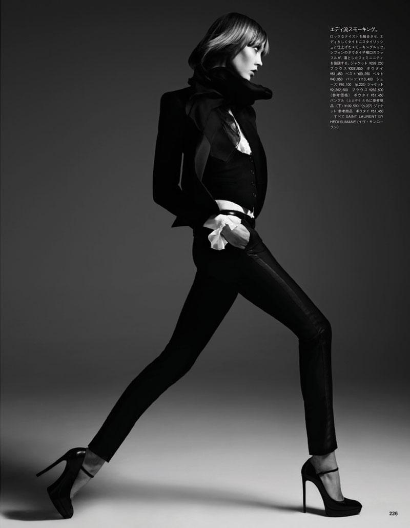 Karlie Kloss Poses for Hedi Slimane in Vogue Japan June 2013