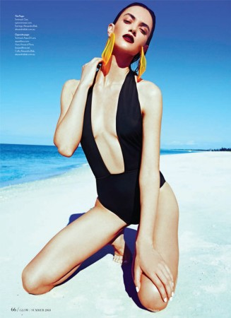 Rachel Alexander Has a Beach Outing for Glow Magazine Summer 2013