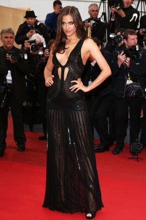 "Irina Shayk is Sexy in Roberto Cavalli at the ""All is Lost"" Cannes Premiere"