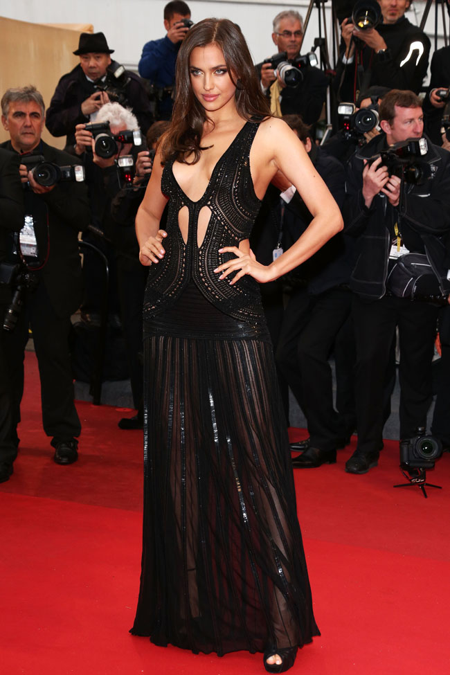 """Irina Shayk is Sexy in Roberto Cavalli at the """"All is Lost"""" Cannes Premiere"""