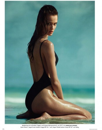 Jac Jagaciak Sports Summer Swim for Vogue Germany June 2013 by Greg Kadel