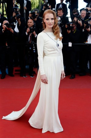 "Jessica Chastain Wears Versace at the ""Cleopatra"" Cannes Film Festival Premiere"