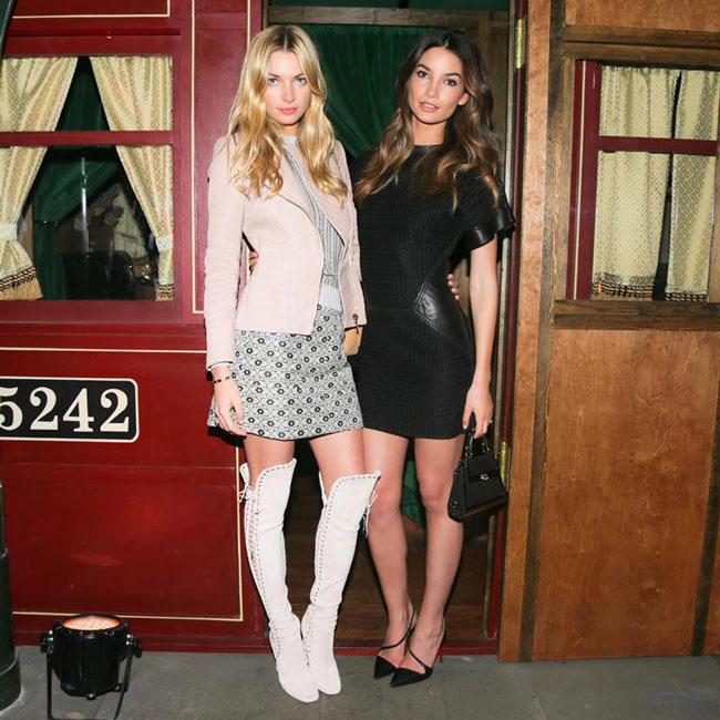 Lily Aldridge and Jessica Hart Attend Ferragamo's Launch of L'Icona in NYC