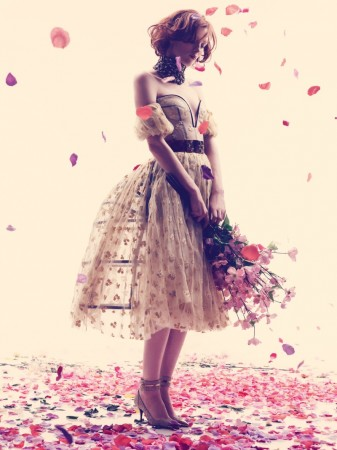 Karen Elson Embraces Spring for Harper's Bazaar UK May 2013 by Alexi Lubomirski