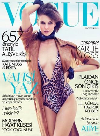 Karlie Kloss Gets Wild for Vogue Turkey June 2013 Cover