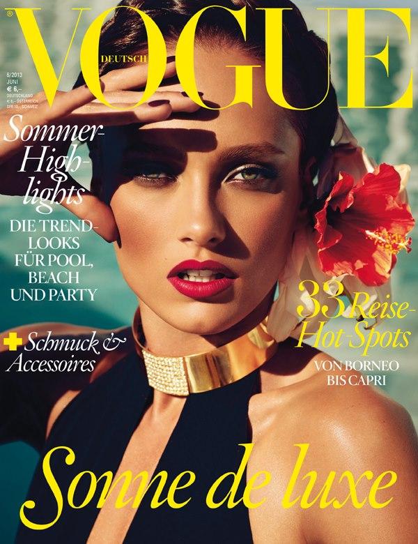 Karmen Pedaru Graces June 2013 Cover of Vogue Germany