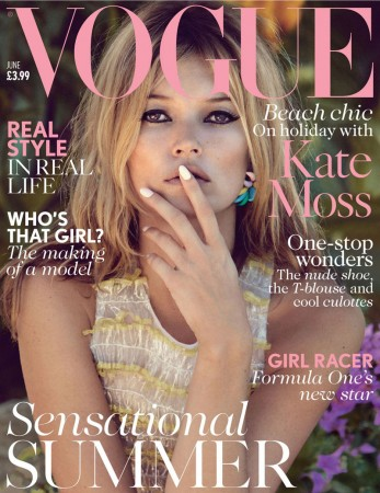 Kate Moss On Vogue UK's June 2013 Cover by Patrick Demarchelier