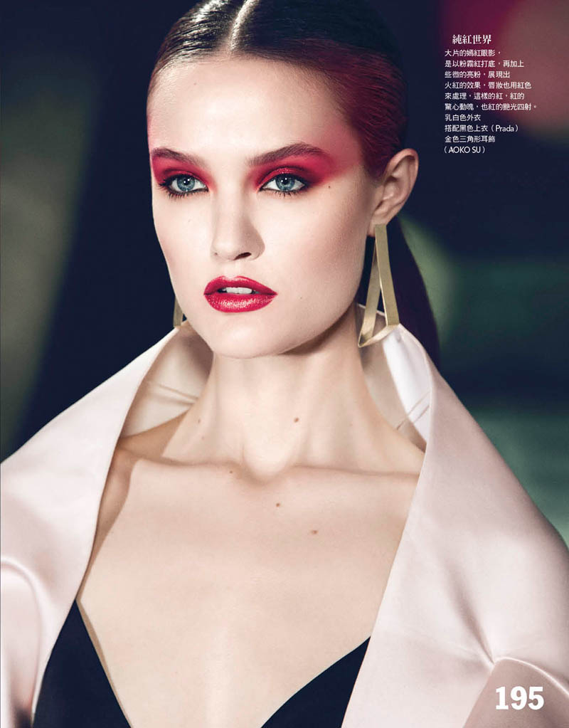 Katie Fogarty is A Rebel in Red for Vogue Taiwan May 2013 by Yossi Michaeli