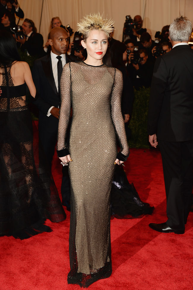 Miley Cyrus Channels Punk in Marc Jacobs for the 2013 Met Gala