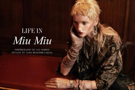 """Nastia Shershen by Jay Schoen in """"Life in Miu Miu"""" for Fashion Gone Rogue"""