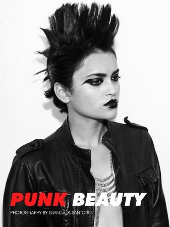 """Natasha Ramachandran by Gianluca Santoro in """"Punk Beauty"""" for Fashion Gone Rogue"""