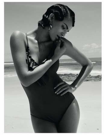 Celia Becker Models Retro Swim for Elle Sweden's June 2013 Edition