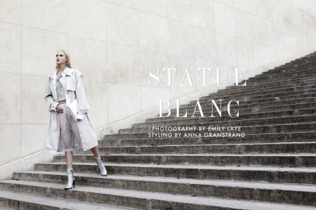 "Yulia Lobova by Emily Laye in ""Statue Blanc"" for Fashion Gone Rogue"