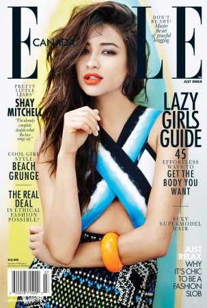 """Pretty Little Liars"" Star Shay Mitchell Covers Elle Canada July 2013"