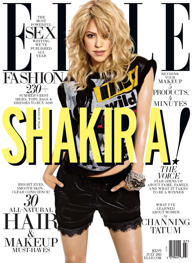 Shakira Covers ELLE US July 2013