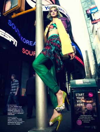 Jessica Pitti Gets Colorful for Yossi Michaeli in Elle Mexico June 2013